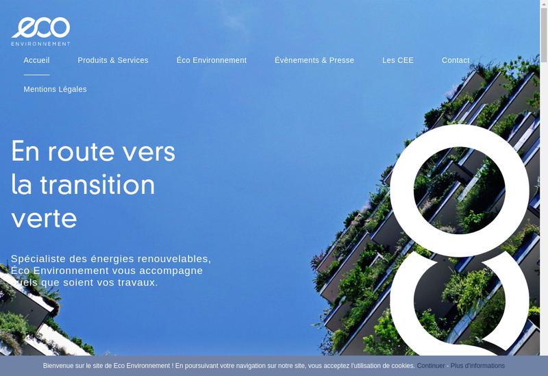 Capture d'écran du site de Ecosol, Ecoiso, Ecopac, Lecologie, Ave