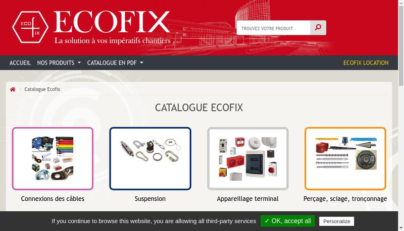 Capture d'écran du site de Ecofix