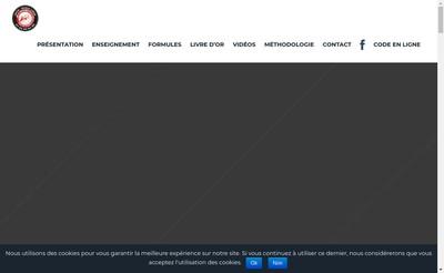 Site internet de Auto Ecole Liege