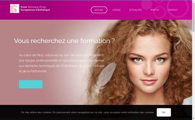 Site internet de Ecole Technique Privee Europeenne d'Esthetique