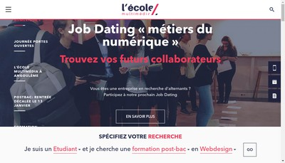 Site internet de L'Ecole Multimedia
