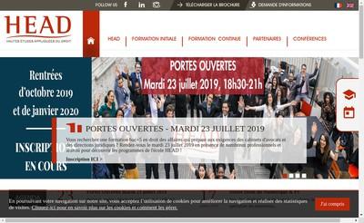 Site internet de Hautes Etudes Appliquees du Droit (Head)