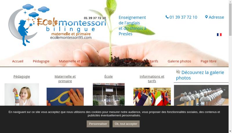 Capture d'écran du site de Ecole Montessori Bilingue