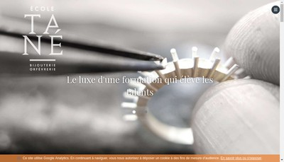 Site internet de Ecole Tane de Bijouterie et d'Orfevrerie