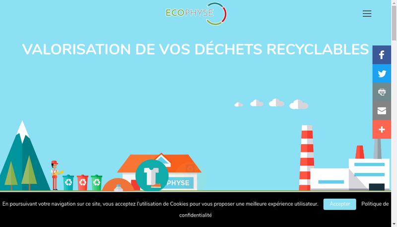 Capture d'écran du site de Ecophyse