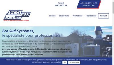Site internet de Eco Sud Systemes