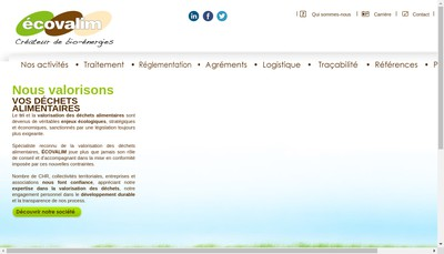 Site internet de Ecovalim