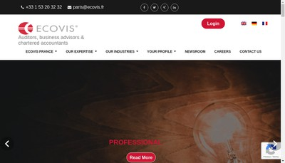 Site internet de Ecovis France