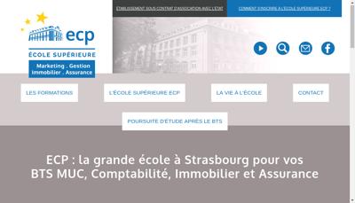 Capture d'écran du site de Ecole Commerciale Privee