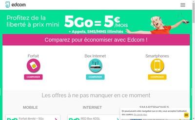 Site internet de Edcom