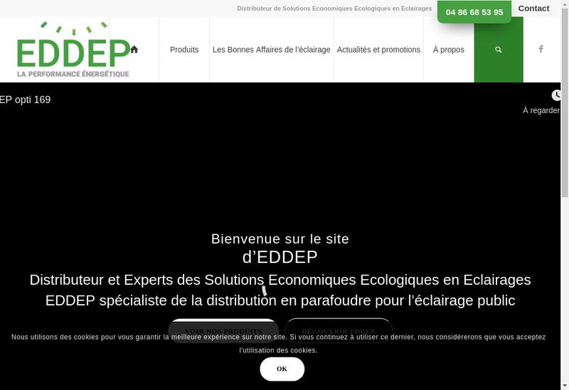 Capture d'écran du site de Eddep