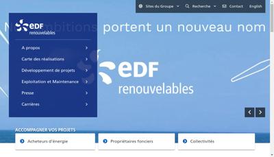 Capture d'écran du site de Techn Energies Nouve Environ Tenesa