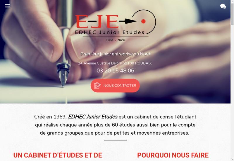 Capture d'écran du site de EDHEC Junior Etudes