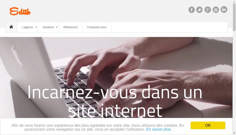 Capture d'écran du site de Edith Digital