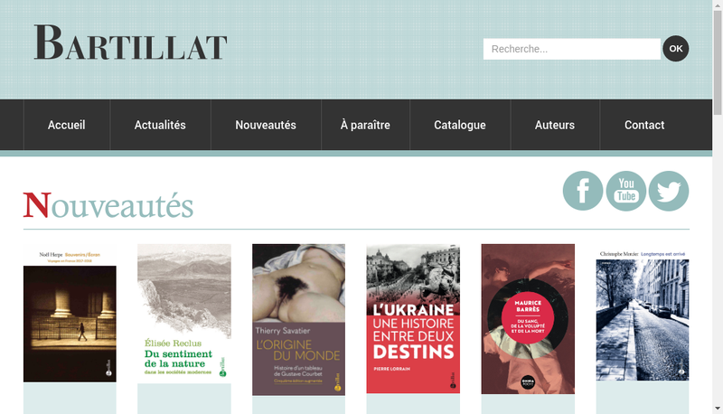 Capture d'écran du site de Bartillat