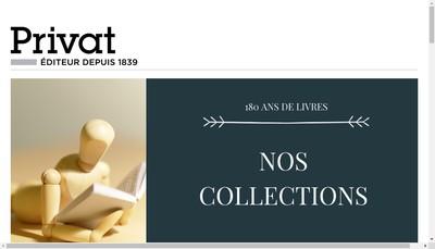 Site internet de Editions Privat