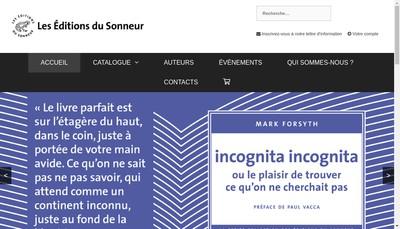 Site internet de Les Editions du Sonneur