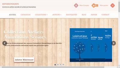 Site internet de Editions Phalente