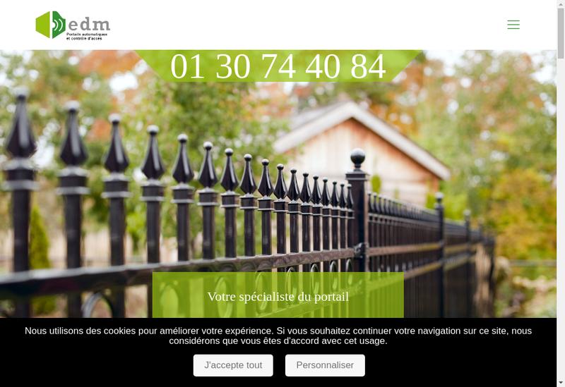 Capture d'écran du site de EDM