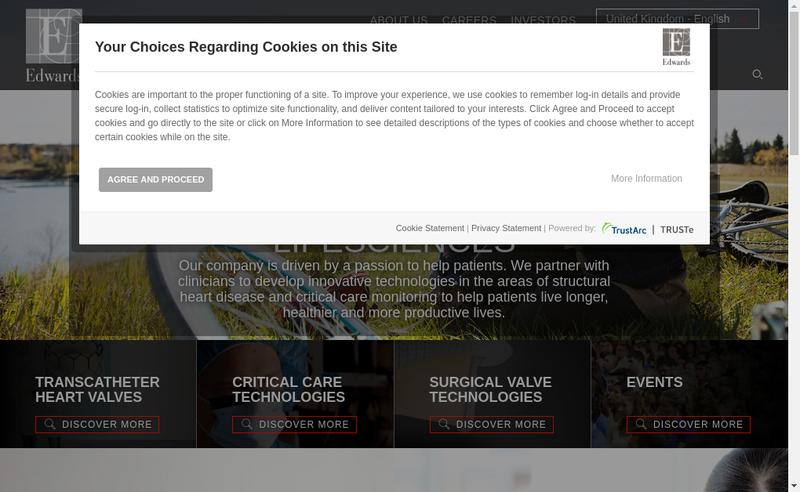 Site internet de Edwards Lifesciences SAS