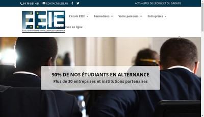 Site internet de Ecole Europeenne d'Intelligence Economique