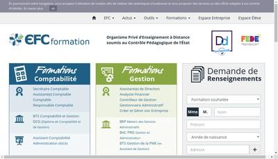 Site internet de Ecole Francaise de Comptabilite Paris Formation