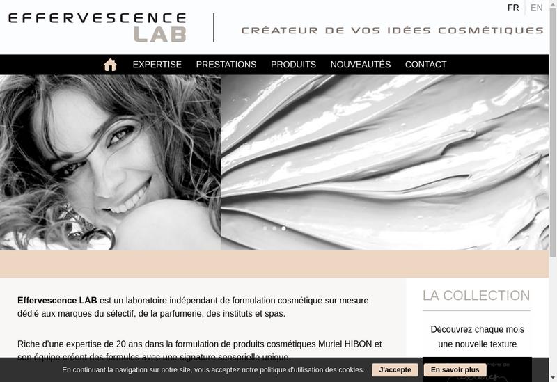 Capture d'écran du site de Effervescence Lab