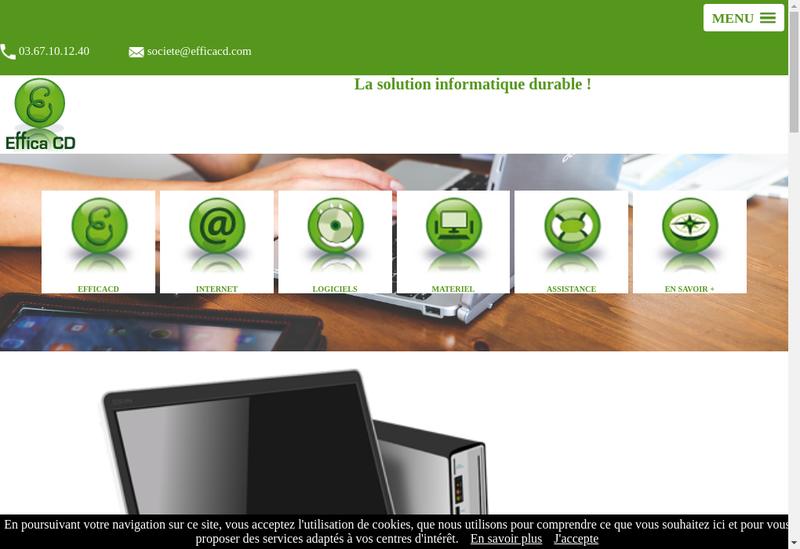 Capture d'écran du site de Effica CD