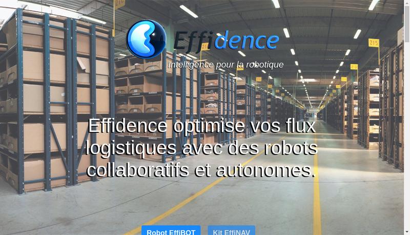 Capture d'écran du site de Effidence