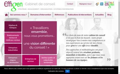 Site internet de Effigen