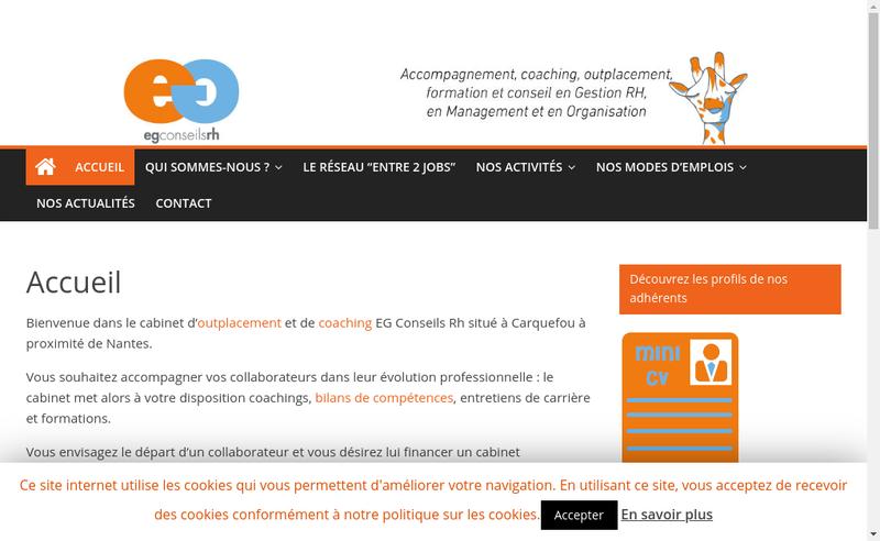 Capture d'écran du site de Eg Conseils Rh