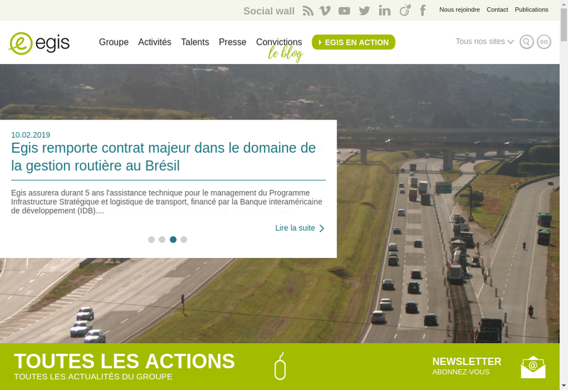 Capture d'écran du site de Iosis Grand Est