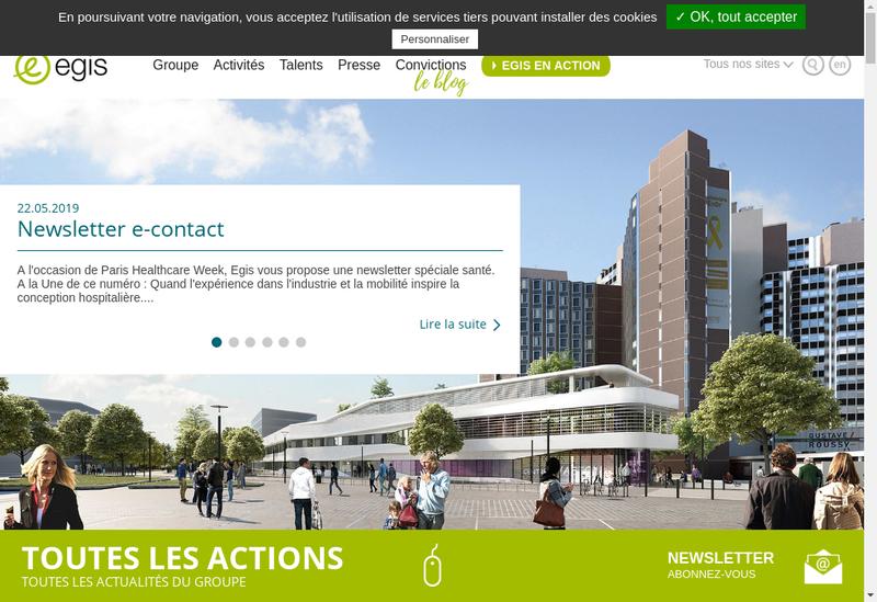 Capture d'écran du site de Groupe Iosis