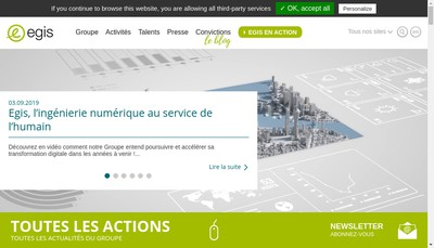 Site internet de Groupe Iosis