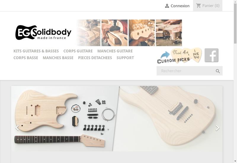 Capture d'écran du site de Eg Solid Body Ad Sculpture