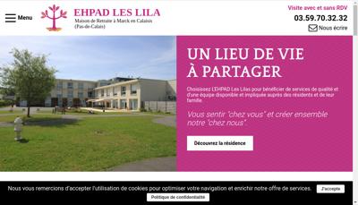 Capture d'écran du site de Clinique des Acacias