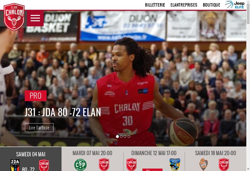 Capture d'écran du site de Sem Elan Chalon