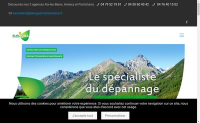 Site internet de Elec'Gaz Maintenance