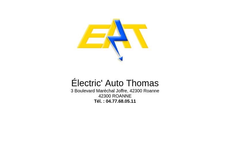 Capture d'écran du site de Electric Auto Thomas SARL