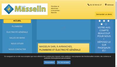 Capture d'écran du site de Masselin