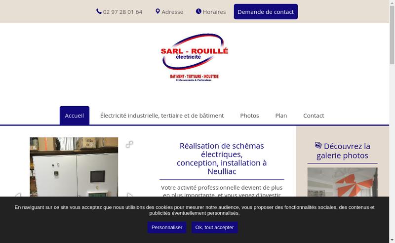 Capture d'écran du site de SARL Rouille