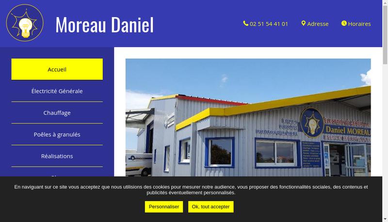 Capture d'écran du site de Daniel Moreau