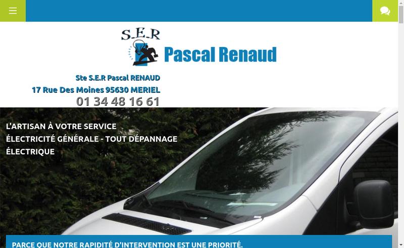 Capture d'écran du site de Societe d'Exploitation Renaud