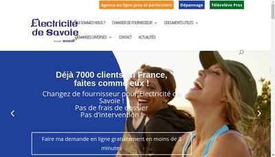 Site internet de Electricité de Savoie
