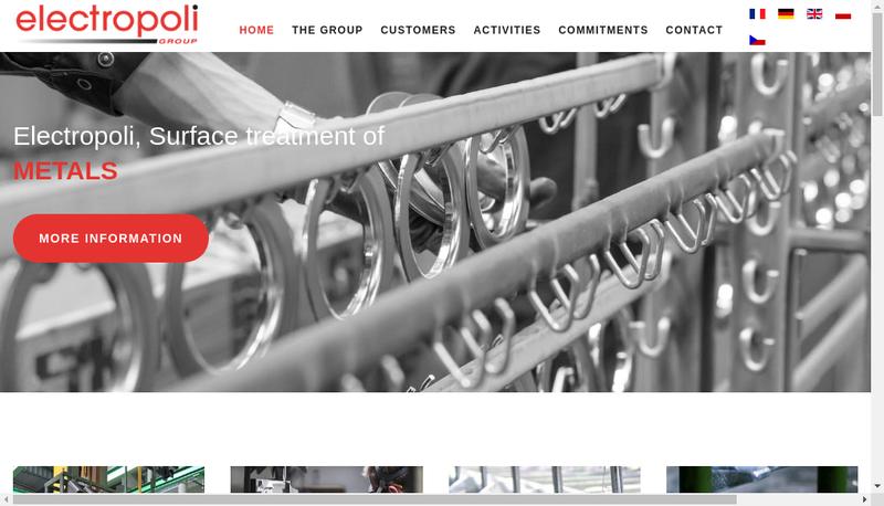Capture d'écran du site de Electropoli