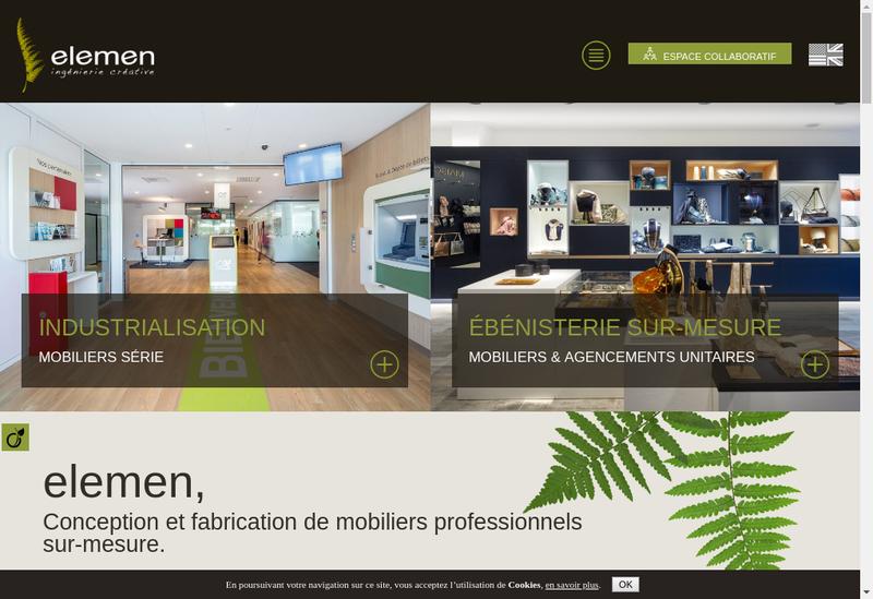 Capture d'écran du site de Craie Design Touchtime