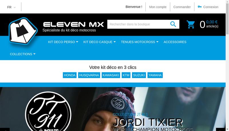 Capture d'écran du site de Eleven Mx