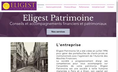 Site internet de Eligest Patrimoine