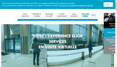 Site internet de Elior Services Proprete et Sante