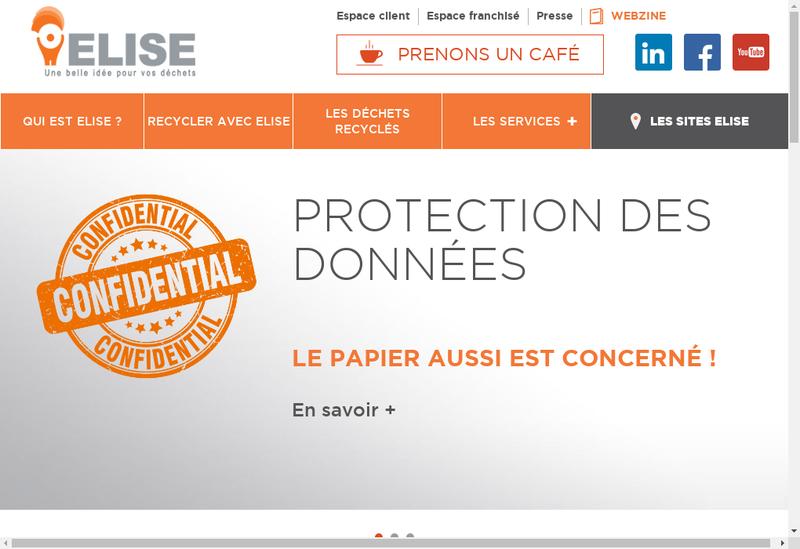 Capture d'écran du site de Groupe Elise